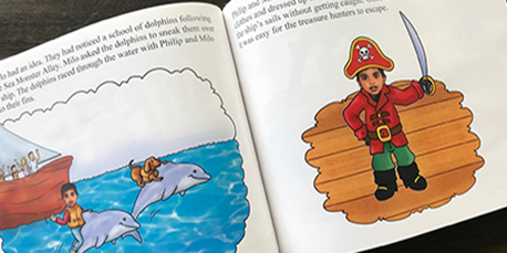 Child dressed as pirate - Spin Me a Tale Personalized kids books